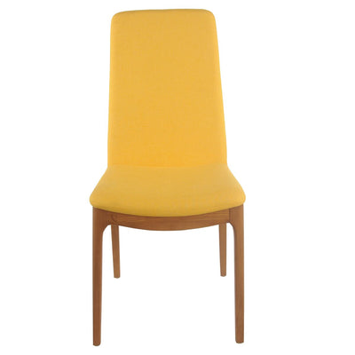 Cheerful Summer Yellow Fabric Guest or Conference Chair (Set of 2)