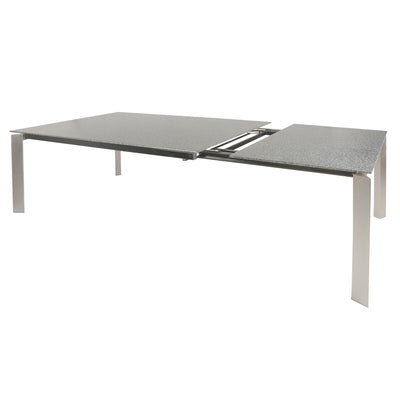 "Gray Glass & Steel 55"" - 78"" Extension Executive Desk or Meeting Table"