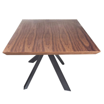 "87"" Conference Table of Iron & Walnut"
