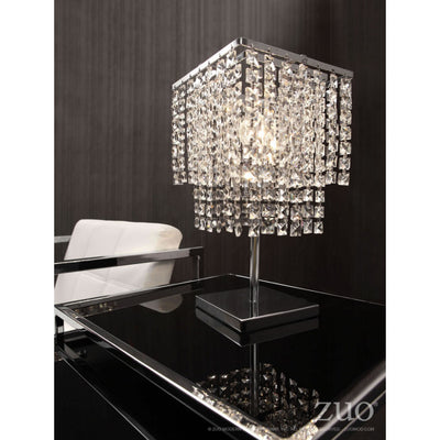 Sophisticated Glittering Crystal Table Lamp