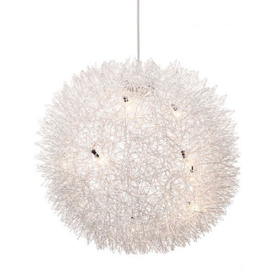 Gorgeous Puffed Hanging Office Lamp w/ Dandelion Design