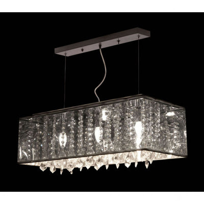 Dramatic Crystalline Ceiling Lamp