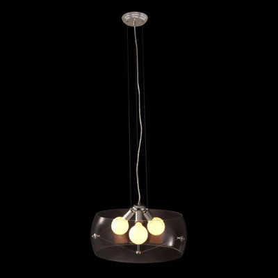 Simple 3-Bulb Ceiling Lamp w/ Clear Glass Shade