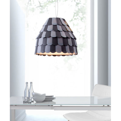 Gray & Black Scaled Hanging Office Pendant Lamp