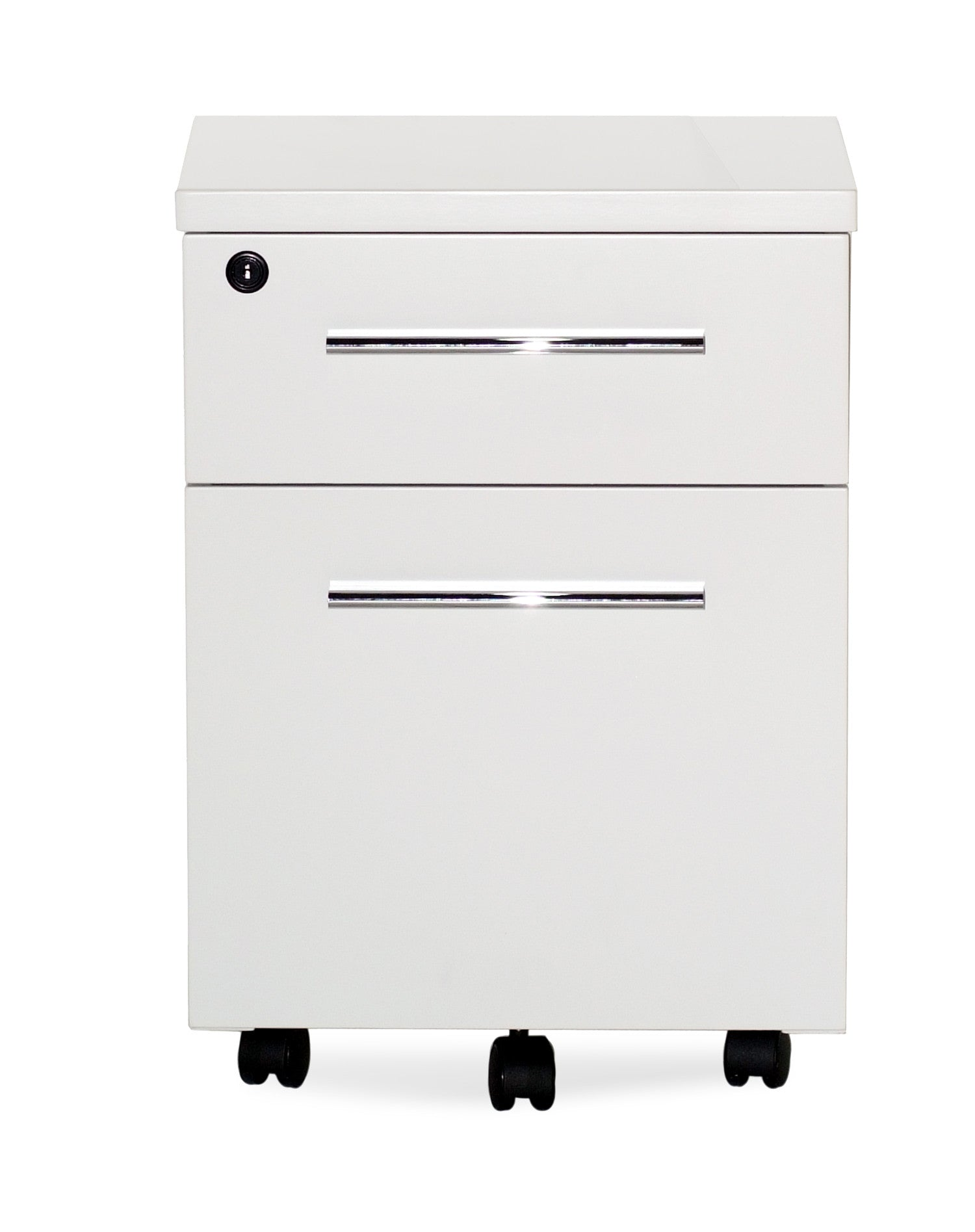 white lacquer  chrome locking mobile file cabinet (assembled). white lacquer  chrome locking mobile file cabinet (assembled
