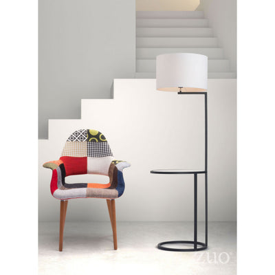 Unique Lamp-Shelf Space Saving Floor Lamp