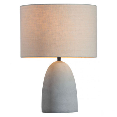 Inviting Office Table Lamp w/ Faux Cement Base