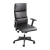 High Back Executive Office Chair in Black Leather