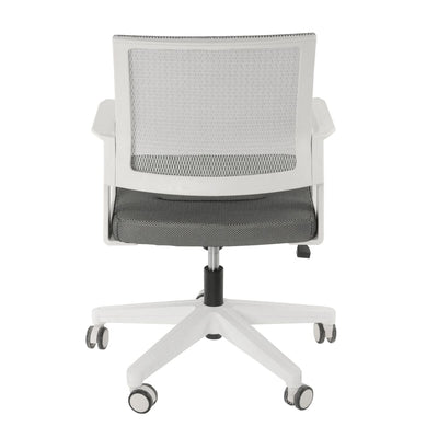 Breathable, Comfortable Gray Office Chair w/ Wheels