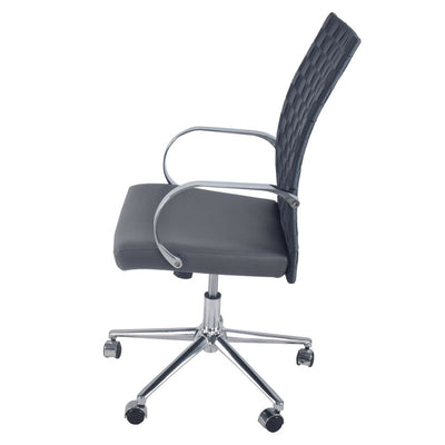 Rocky Gray Office Chair w/ Woven Back