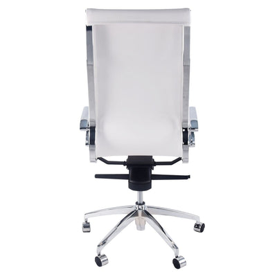 Diamond-Back Office Chair in Iceberg White