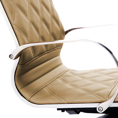 Diamond-Back Office Chair in Peru Brown