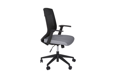 Ergonomically-Designed Grey Mesh Office Chair