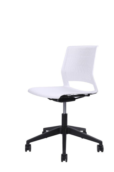 Classic Rolling White Adjustable Office Chair
