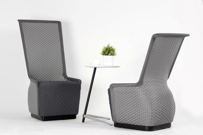 Unique Grey Mesh Guest Chair