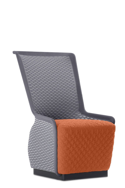 Unique Orange and Grey Mesh Guest Chair