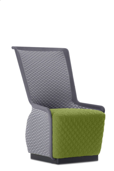 Unique Green and Grey Mesh Guest Chair