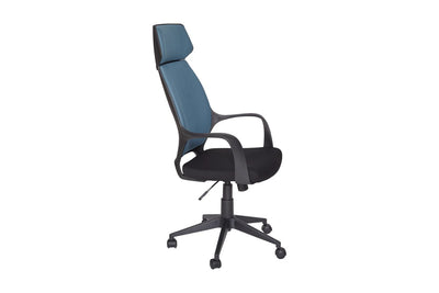 Blue Modern High-Back Fabric Office Chair