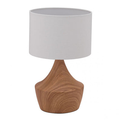 Retro Modern Faux Woodgrain Table Lamp