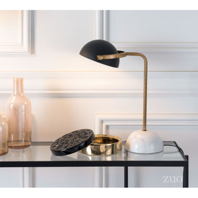 Black & Gold Desk Lamp w/ Marble Base