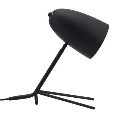 Unique & Sleek Tripod-Style Office Desk Lamp in Black