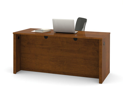 "66"" Modern Office Desk with Dual Half Pedestals in Tuscany Brown"