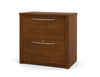 "30"" Tuscany Brown Locking Lateral File with Elegant Silver Handles"
