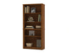 "Embassy 67"" Tall Five Shelf Bookcase in Tuscany Brown"