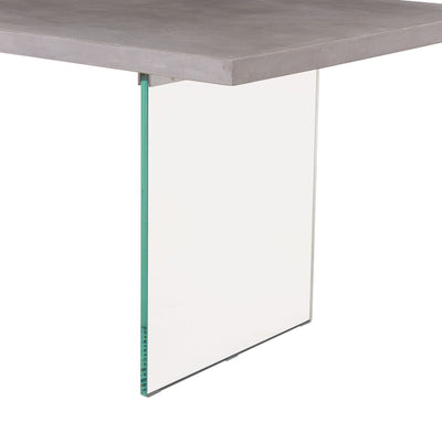 "79"" Epic Concrete and Glass Executive Desk or Conference Table"
