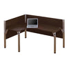 Pro-Biz Premium L-shaped Desk with Privacy Panel in Chocolate
