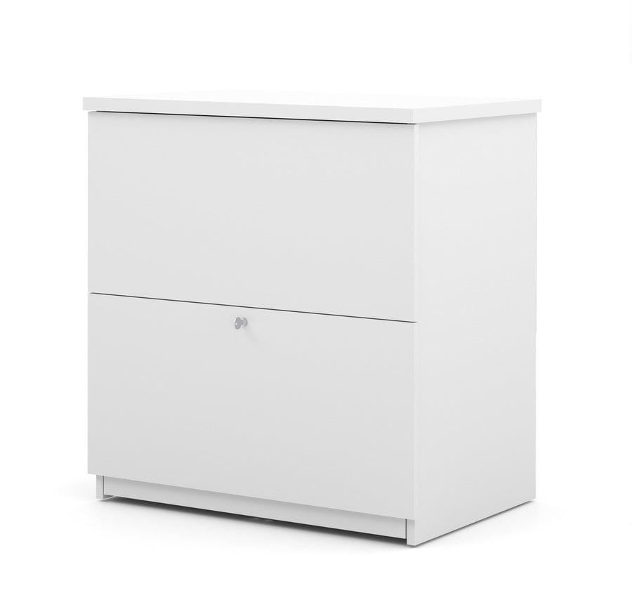 Modern White Locking Lateral File