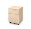 Mobile Locking File Cabinet in Northern Maple