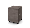 Mobile Locking File Cabinet in Bark Gray
