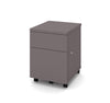 Mobile Locking File Cabinet in Slate Finish