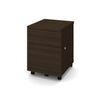 Mobile Locking File Cabinet in Dark Chocolate Finish