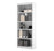"Premium White 72"" Five Shelf Bookcase from Bestar"