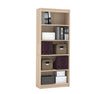 "Premium 72"" Five Shelf Bookcase in Northern Maple from Bestar"