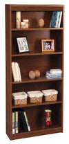 "Premium 72"" Five Shelf Bookcase in Tuscany Brown from Bestar"