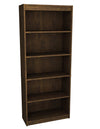 "Premium 72"" Five Shelf Bookcase in Chocolate from Bestar"