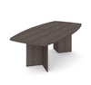 "Bark Gray 95"" Boat-Shaped Wood Conference Table"
