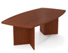 "Premium 95"" Contemporary Wood Conference Table in Bordeaux"
