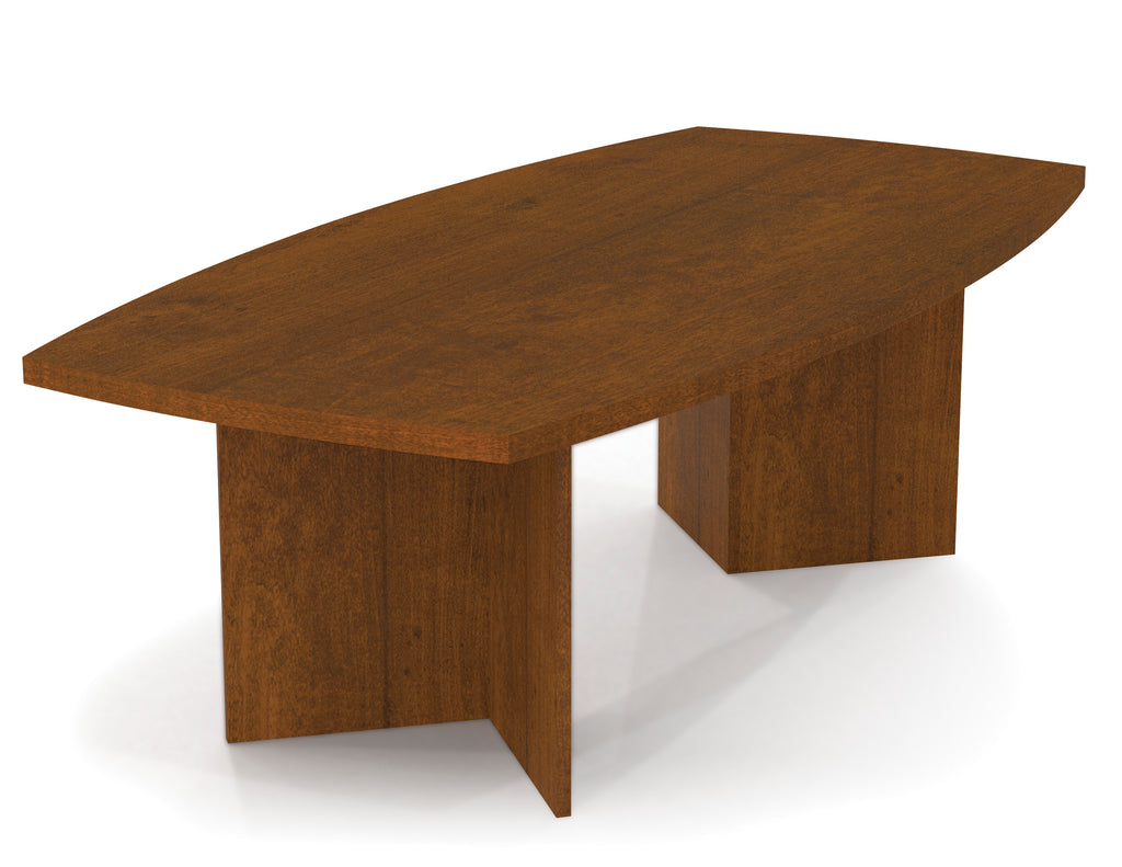 "Premium 95"" Contemporary Wood Conference Table in Tuscany Brown"