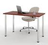 "Modern Premium 48"" Office Desk with Bordeaux Top & Silver Legs"