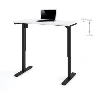 "Modern White 48"" Office Desk with Electric Height Adjustment from 28 - 45"""