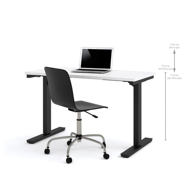 "Modern White 48"" Desk with Height Adjustment from 28 - 45"""