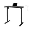 "Modern Black 48"" Office Desk with Electronic Height Adjustment"