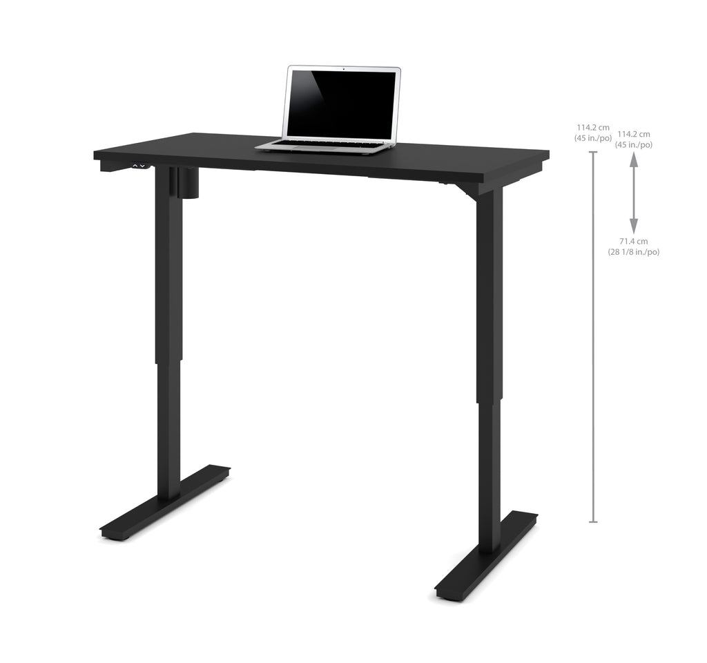 "Modern Black 48"" Office Desk with Electric Height Adjustment from 28 - 45"""