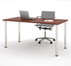 "Modern Premium 60"" Office Desk with Bordeaux Top & Silver Legs"