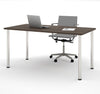 "Modern Premium 60"" Office Desk with Antigua Top & Silver Legs"