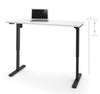 "White 60"" Office Desk with Electric Height Adjustment from 28 - 45"""